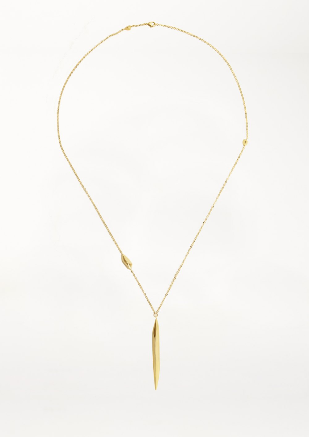 WASHED STONE COLLECTION XENIA BOUSStar Dust Necklace long Pendant Necklace in gold silver with sculptural pendant  elegant chain