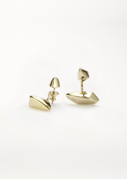 xenia bous schmuck Small Flying Stone 07 earring gold silber