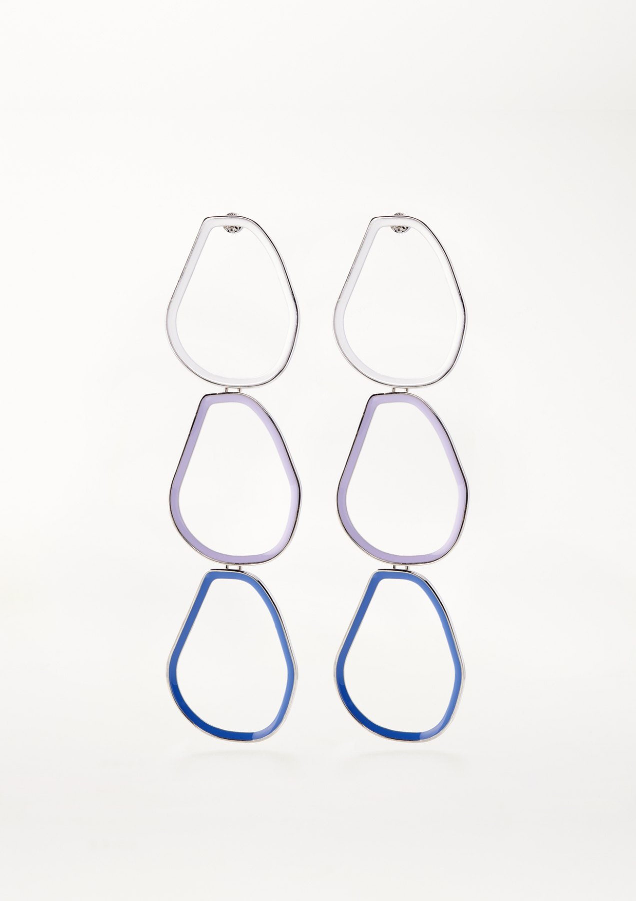 xenia bous jewellery coloured stone 05 earrings multicolour white lilac blue