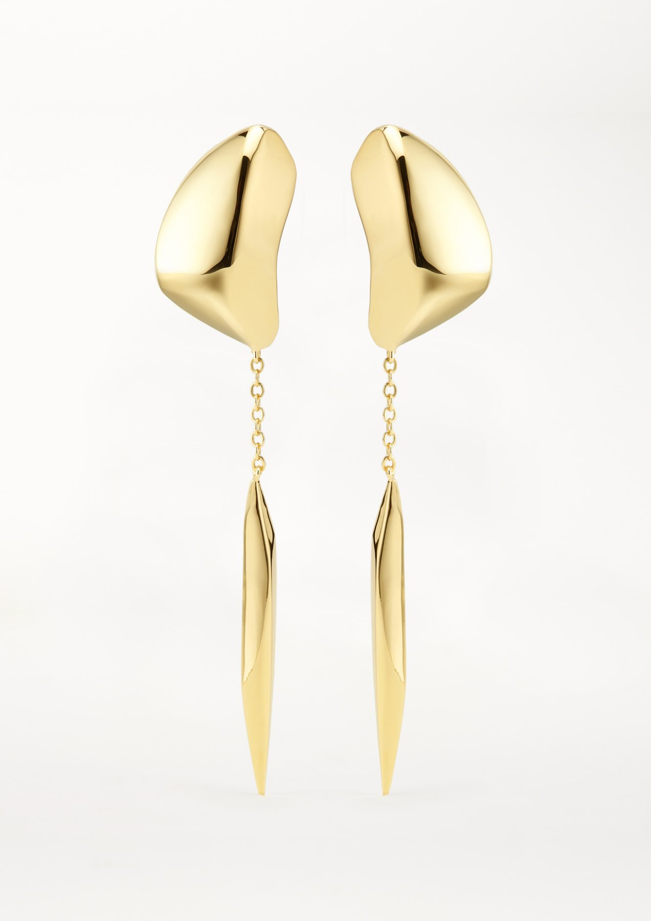 xenia bous jewellery washed stone 01 mercury drop earrings gold