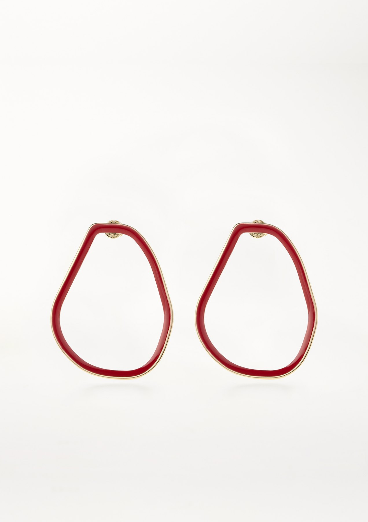 xenia bous jewellery coloured stone 02 earrings feuerrot rot